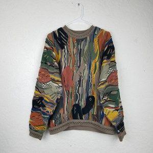Rare Vintage COOGI Striped Sweater 90s Australia M